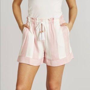 Lauren James Striped Miramar Drawstring Shorts NWT